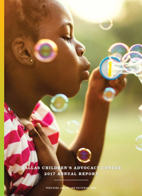 2017 recap PDF cover of girl blowing bubbles